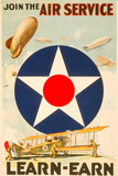 Join The Air Service Vintage Ad Poster Photo