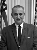 Digitally Restored American History Photo of President Lyndon B. Johnson Fotografiskt tryck