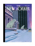 Polar Bears on Fifth Avenue - The New Yorker Cover, January 13, 2014 Regular Giclee Print by Bruce McCall