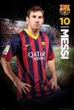 Barcelona Messi 13/14 Kunstdruck