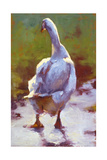 Tristan Leaves the Pond Giclee Print by Cheri Christensen