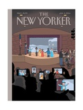 All Together Now - The New Yorker Cover, January 6, 2014 Regular Giclee Print by Chris Ware