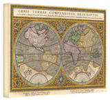 Rumold Mercator 'Orbis Terrae Compendiosa Descritio' Gallery Wrapped Canvas by Rumold Mercator