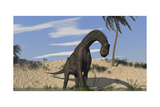 Large Brachiosaurus Standing in Water Prints
