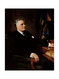 Digitally Restored American History Painting of President Franklin Roosevelt Prints