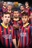 Barcelona Players 13/14 Poster