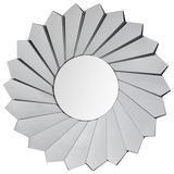 Adela All-Glass Mirror Wall Mirror by Jonathan Wilner