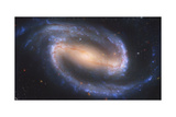 Artist's Painting of NGC 1300, a Barred Spiral Galaxy Prints
