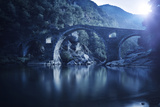 Dyavolski Most Arch Bridge in the Rhodope Mountains, Ardino, Bulgaria Photographic Print