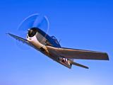 A Grumman F6F-3 Hellcat in Flight Near Chino, California Photographic Print