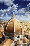 Piazza Del Duomo with Basilica of Saint Mary of the Flower, Florence, Italy Photographic Print