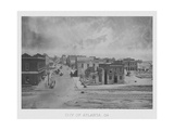 Vintage American Civil War Print of the City of Atlanta, Georgia, Circa 1863 Posters