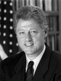 Digitally Restored Photo of President Bill Clinton Photographic Print