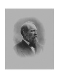 Digitally Restored American History Print of President James Garfield Art