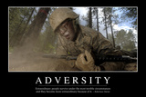 Adversity: Inspirational Quote and Motivational Poster Photographic Print