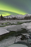 Aurora Borealis over Annie Lake, Yukon, Canada Photographic Print