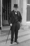Digitally Restored English History Photo of Winston Churchill Photographic Print