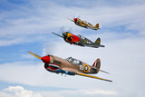A Group of P-40 Warhawks Fly in Formation Near Nampa, Idaho Photographic Print