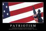 Patriotism: Inspirational Quote and Motivational Poster Photographic Print