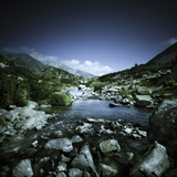Small River Flowing Through Big Stones in Pirin National Park, Bulgaria Photographic Print