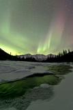 Aurora Borealis, Annie Lake, Yukon, Canada Photographic Print