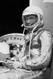 Digitally Restored Photo of Astronaut John Glenn Wearing a Spacesuit Photographic Print