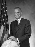 Digitally Restored Photo of Astronaut John Glenn Photographic Print
