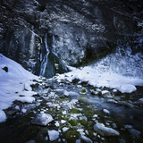 Gegskiy Waterfall in the Snowy Mountains of Ritsa Nature Reserve Photographic Print