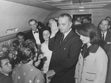 Lyndon Johnson Taking the Presidential Oath of Office Photographic Print
