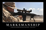 Marksmanship: Inspirational Quote and Motivational Poster Photographic Print