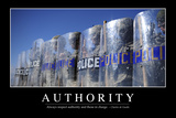 Authority: Inspirational Quote and Motivational Poster Fotodruck