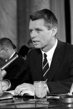 Digitally Restored Vintage Photo of Robert Kennedy Speaking Photographic Print