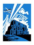 Vintage World War II Propaganda Poster Print