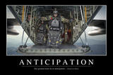 Anticipation: Inspirational Quote and Motivational Poster Photographic Print