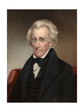 Vintage American History Painting of President Andrew Jackson Prints