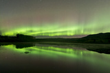 Aurora Borealis over Fish Lake, Whitehorse, Yukon, Canada Photographic Print