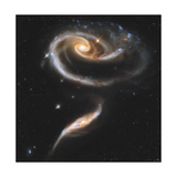 Artist's Painting of Arp 273, a Group of Interacting Galaxies in Andromeda Print