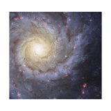 Artist's Painting of Spiral Galaxy Messier 74 Poster