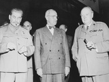 World War II Photo of Joseph Stalin, Harry Truman and Winston Churchill Photographic Print