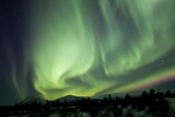 Aurora Borealis over Mountain, Yukon, Canada Photographic Print