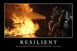 Resilient: Inspirational Quote and Motivational Poster Photographic Print