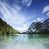 Lake Braies and Dolomite Alps, Northern Italy Photographic Print