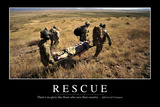 Rescue: Inspirational Quote and Motivational Poster Photographic Print