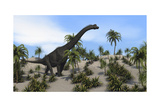 Large Brachiosaurus in a Tropical Environment Posters