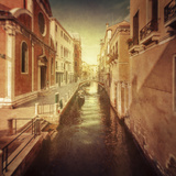 Vintage Shot of Venetian Canal, Venice, Italy Photographic Print