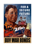 World War II Propaganda Poster of a Farmer Holding His Future Art