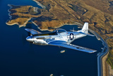 A North American P-51D Mustang Flying Near Chino, California Photographic Print