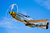 A North American P-51D Mustang in Flight Near Chino, California Photographic Print