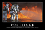 Fortitude: Inspirational Quote and Motivational Poster Reprodukcja zdjęcia