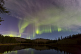 Aurora Borealis over Hidden Lake, Yukon, Canada Photographic Print